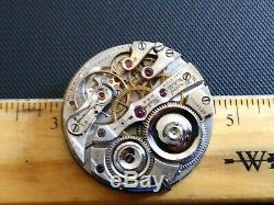 High Grade 16 size E Howard 21 Jewel No10 Rail Road pocket watch movement. Runs