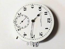 High Grade 43mm Vacheron & Constantin Wolf Tooth pocket watch movement! Runs