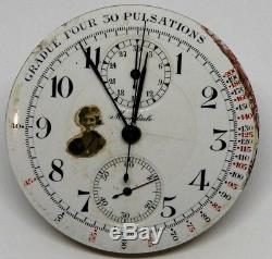 High Grade 44mm Chronograph Pocket Watch Movement for Parts/Repairs