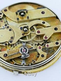 High Grade Anonymous Swiss Lever Repeater Pocket Watch Movement Ticking (E67)