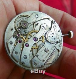 High Grade Extra Thin Paul Ditisheim Pocket Watch 38mm 18j 8 Adjustments Bkn Stf