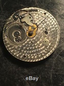 High Grade Haas Ultra Thin Pocket Watch Movement 18j Very Hard To Find
