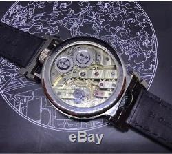 High Grade Lecoultre Pocket Watch Movement DAY DATE Dial in New Marriage Case