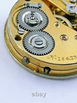High Grade Possibly Early IWC Pocket Watch Movement Retailed by Metford (E45)