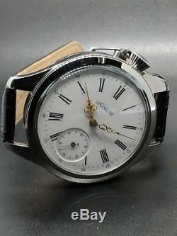 High Grade STUNNING Lecoultre Pocket Watch Movement NEW Marriage Case SERVICED