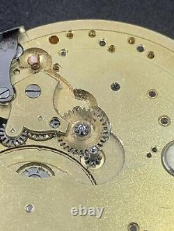 High Grade Swiss Pocket Watch Movement Unmarked Ruby Jewels Parts F4535