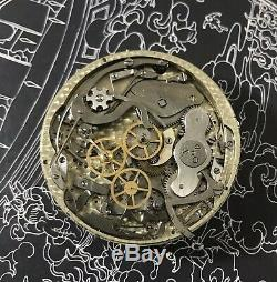 High grade 5 minute repeater chronograph pocket watch movement Ed. Richard