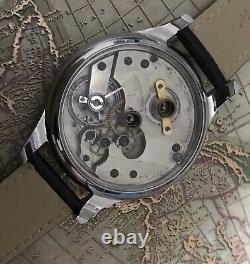 High grade Auguste saltzman Keywind pocket watch movement in new engrave Case