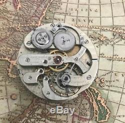 High grade D. Ducommun Gorgier Suisse pocket watch movement RARE 43 mm working