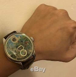 High grade IWC Pallweber jumb hour pocket watch movement in new custom SS case