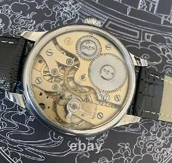 High grade IWC jump Hour pocket watch movement in new Marriage Watch Case