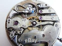 High grade LECOULTRE MINUTE REPEATER 1900s POCKET WATCH 43mm working Movement