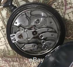 High grade Quarter Repeater Pocket Watch Swiss Gun metal! 38 mm movement! Working