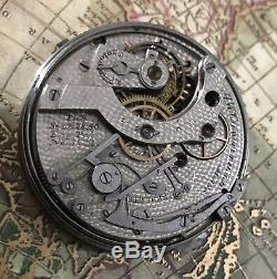 High grade Waltham five minute repeater chronograph pocket watch movement /Parts