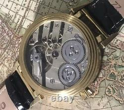 High grade girard perregaux helical hairspring pocket watch movement in new case