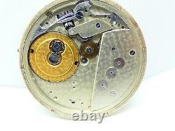 High grade pocket watch movement g rymond valleede balance ok just parts (Z136)
