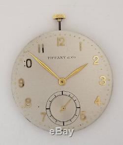 IWC Pocket Watch Movement Caliber 95 Diameter 40mm & Tiffany & Co Complete Dial