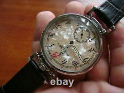 IWC SCHAFFHAUSEN wristwatch converted from pocket watch movement 18 jew