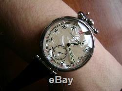 IWC SCHAFFHAUSEN wristwatch converted from pocket watch movement 18 jew