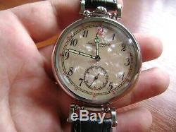 IWC SCHAFFHAUSEN wristwatch converted (redone) from pocket watch movement 18jew