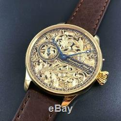 IWC Schaffhausen Gold Skeleton Classic Elegant Marriage Pocket Watch Movement