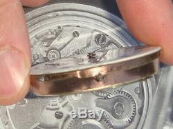 IWC Schaffhausen JWC early lever set pocket watch movement EX Condn conversion