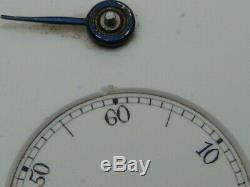 IWC Schaffhausen JWC early lever set pocket watch movement & dial for conversion