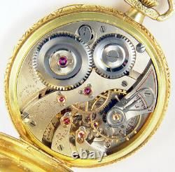 Illinois 23 Jewel 12s Rare Satin Movement Finish Grade 410 Pocket Watch