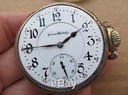 Illinois Pocket Watch Sangamo Movement 6 Positions Isochronism 23J LS
