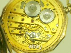 International Watch Co. Shaffhausen 14k Gold Pcket Watch Perfect Movement -b/o