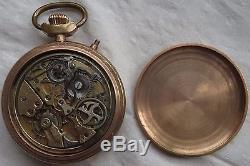Invicta Quarter Repeater & Chronograph pocket watch movement & enamel dial