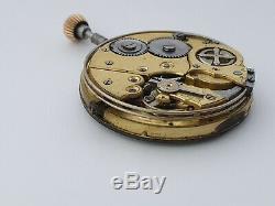 Invicta quarter repeater brevete depose pocket watch movement working
