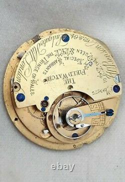 J. W. BENSON H. R. H. Pocket Watch Movement. FULL WORKING ORDER 1800s Field watch