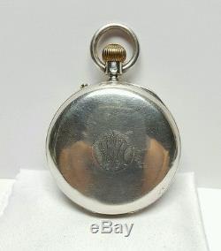 J. W. Benson London Silver Pocket Watch 1913 Movement # 587935 Good Condition