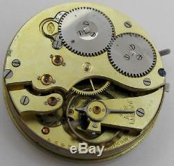 JWC / IWC 52 16s pocket watch movement & dial for part. Diameter 43.2 mm OF