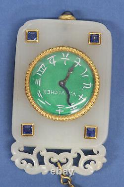 Jade Pendant Watch with Vacheron Constantin Movement and set stones
