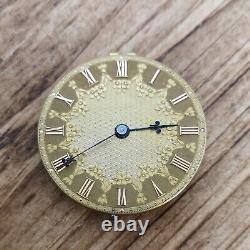 James McCabe Working Fusee Pocket Watch Movement With Gold Dial (BS62)