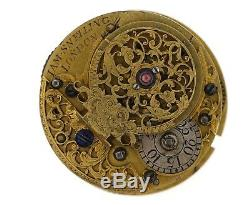 James Snelling London 18th Century English Verge Pocket Watch Movement Vv81