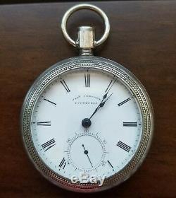 Joseph Johnson, Ca. 1800's, 18s, Fusee, Key Wind, Gilt Movement, Pocket Watch