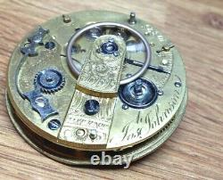 Josh Johnson Fusee Pocket Watch Movement Ticking Well Liverpool c. 1840