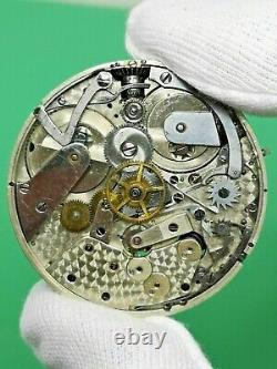 Jules Emmery Two-Train Flying Quarter Seconds Chronograph Pocket Watch Movement