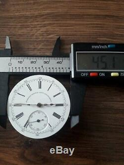 Jules Jurgensen For Russel Chronograph Pocket Watch Movement RARE