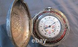 Julien Le Roy Pocket Watch Fusee Movement Made In France For Turkish Market