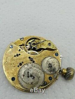 Julius Assmann Glashutte Pocket Watch Movement. Working Condition! Parts/restore