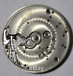 L Howard Pocket Watch Movement 21 Jewels 5 Positions For Parts/repairs #w98