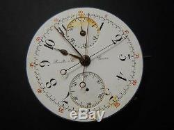 LECOULTRE MOVEMENT RATTRAPANTE SPLIT SECOND CHRONOGRAPH POCKETWATCH 43mm Rare