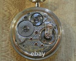 Large 1895 18S Waltham Gold Filled Vanguard Railroad Pocket Watch 21jewels Runs