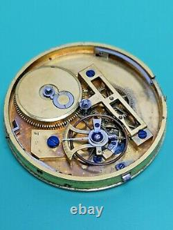 Late 18th Century Le Roy Cylinder Escapement Large Pocket Watch Movement (P107)
