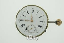 LeCoultre Pocket Watch Movement Spiral Breguet 43.2 mm Working (SO106)