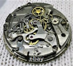 Lemania Chronograph Pocket Watch L. W. C 1710 Movement for Parts DHL UPS Speed